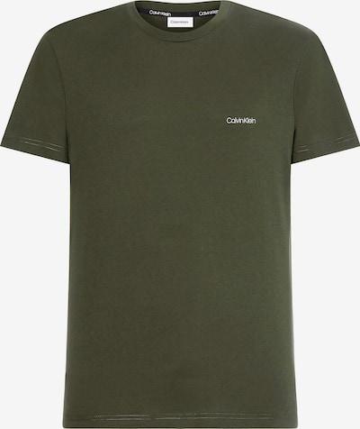 Calvin Klein Shirt in de kleur Olijfgroen / Wit, Productweergave