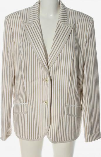 Elegance Paris Long-Blazer in 4XL in braun / weiß, Produktansicht