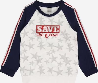 KANZ Sweater majica u mornarsko plava / siva / crvena / bijela, Pregled proizvoda