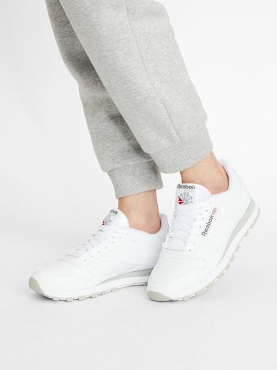 Reebok Classics Sneaker 'Classic Leather' in grau / weiß: Frontalansicht