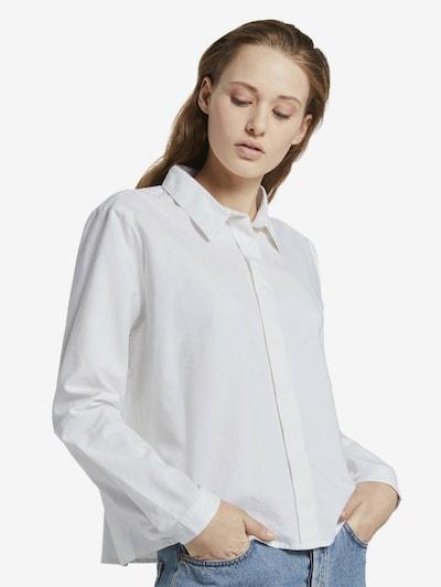 TOM TAILOR DENIM Bluse in weiß, Modelansicht
