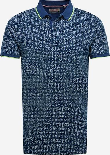 Petrol Industries Shirt in de kleur Marine / Neongroen, Productweergave