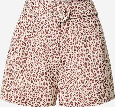 Forever New Pantalon à pince 'Chloe' en rouille / gris clair / blanc, Vue avec produit