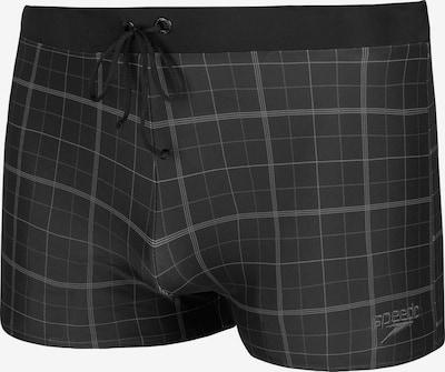 SPEEDO Sportbadehose in graumeliert / schwarz, Produktansicht