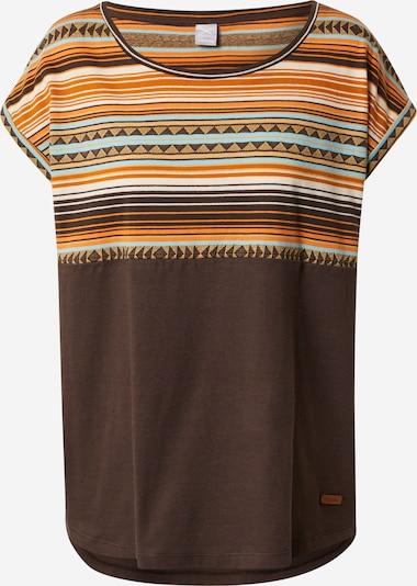 Iriedaily Shirt 'Vinta' in Cream / Turquoise / Light brown / Dark brown / Orange, Item view