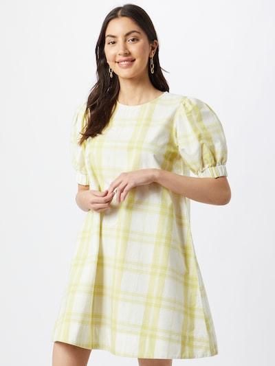 Thinking MU Kleid in hellgelb / weiß, Modelansicht