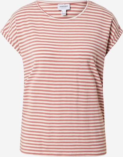 VERO MODA T-shirt 'AVA' i gammalrosa / vit, Produktvy