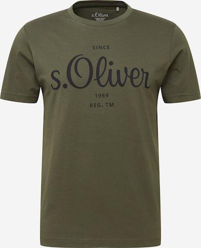 s.Oliver T-Shirt in oliv / schwarz, Produktansicht