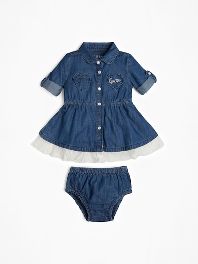 GUESS KIDS SET in blue denim, Produktansicht