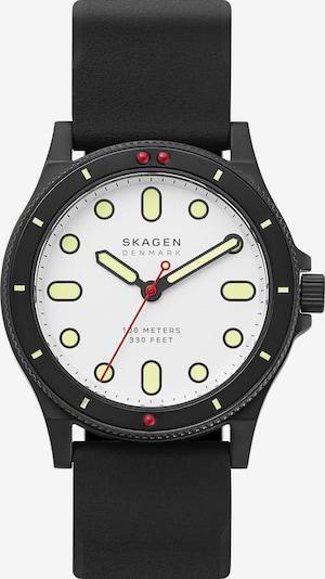 SKAGEN Uhr in rot / schwarz / weiß, Produktansicht