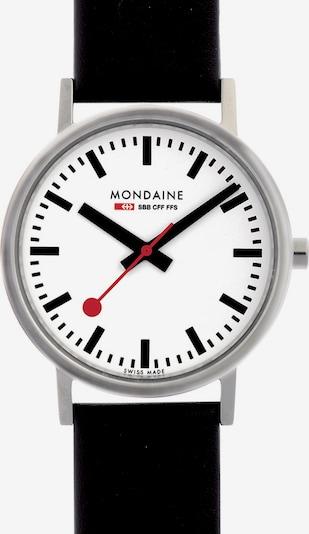 Mondaine Uhr in rot / schwarz / silber / weiß, Produktansicht