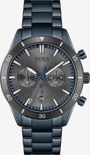 BOSS Casual Uhr 'Santiago' in enzian / schwarz / weiß, Produktansicht