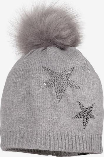MAXIMO Mütze 'Stars' in grau / schwarz, Produktansicht