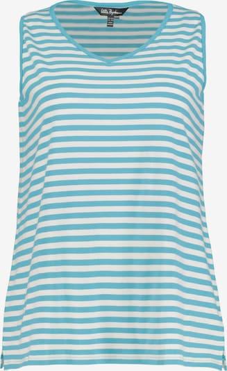 Ulla Popken Top in de kleur Blauw / Wit, Productweergave