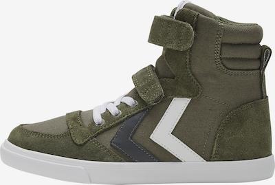 Hummel Sneakers in de kleur Grijs / Olijfgroen / Wit, Productweergave