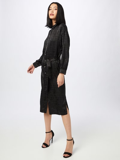 Rochie tip bluză 'MILLY' River Island pe negru, Vizualizare model