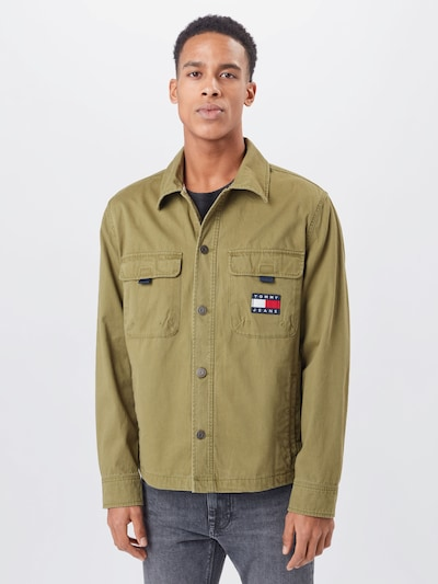 Tommy Jeans Shirt in night blue / olive / red / white: Frontal view