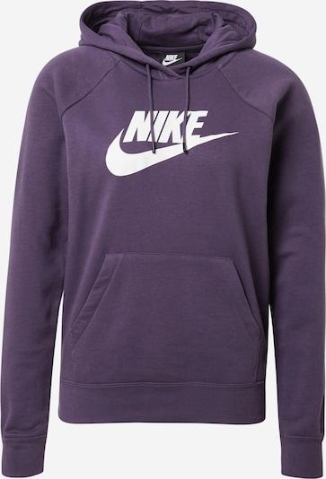 Nike Sportswear Sweatshirt in de kleur Donkerlila / Wit, Productweergave