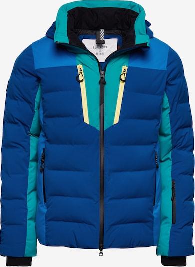 Superdry Outdoorjas in de kleur Blauw / Hemelsblauw / Zwart / Wit, Productweergave
