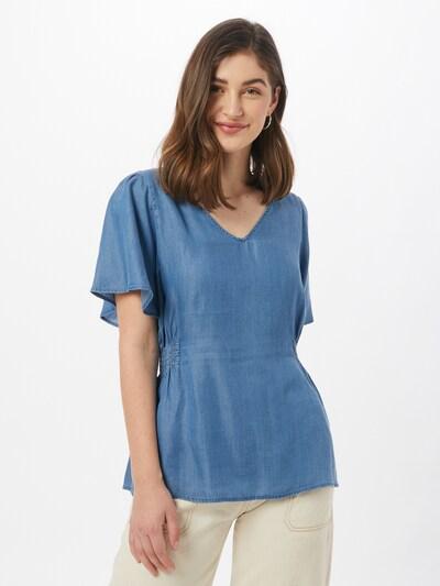ICHI Bluza u plavi traper, Prikaz modela