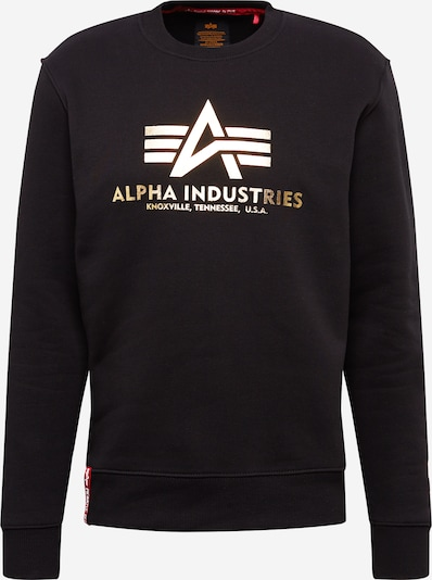 ALPHA INDUSTRIES Sweatshirt i guld / sort, Produktvisning