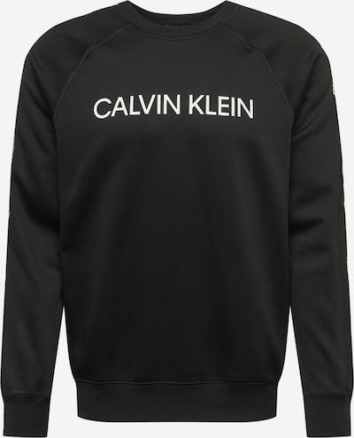 Hanorac sport Calvin Klein Performance pe negru / alb, Vizualizare produs