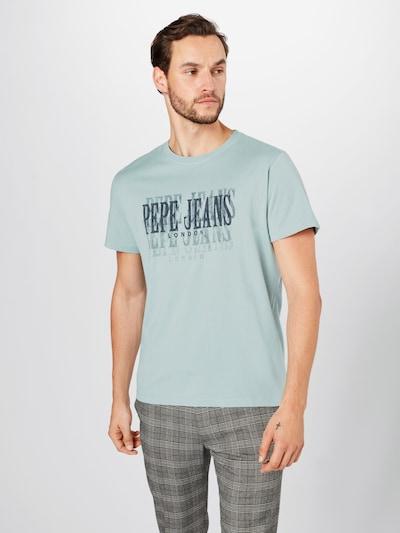 Pepe Jeans Shirt 'SNOW' in grau / hellgrün: Frontalansicht