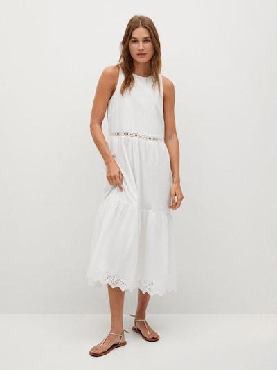 MANGO Kleid 'Ducky' in weiß, Modelansicht