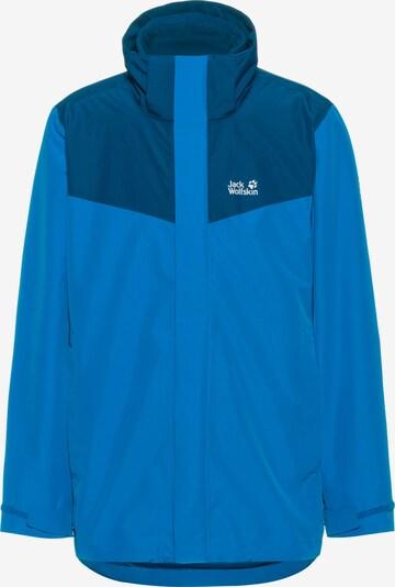 JACK WOLFSKIN Outdoorjacke 'Towada' in himmelblau / dunkelblau / weiß, Produktansicht