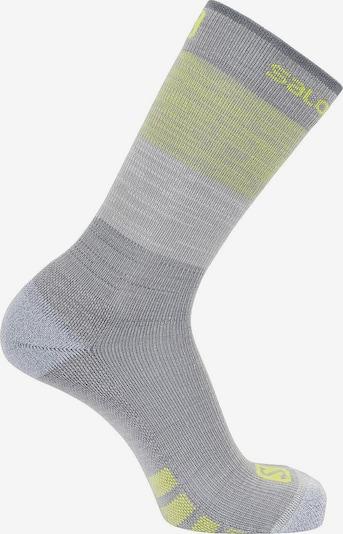 SALOMON Sport-Socken 'Predict High' in gelb / grau: Frontalansicht