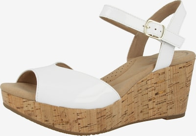CLARKS Sandale 'Annadel Mystic' in naturweiß, Produktansicht