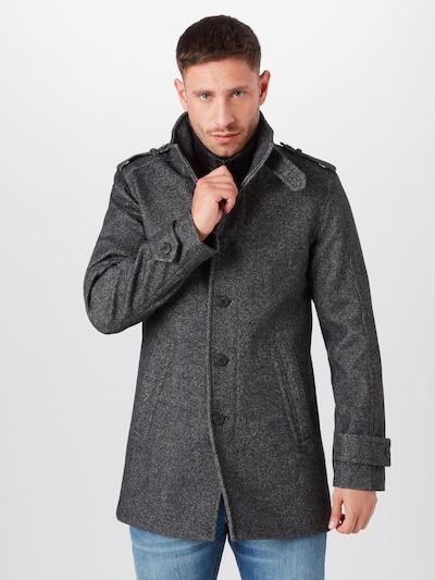 SELECTED HOMME Manteau mi-saison en gris foncé, Vue avec modèle