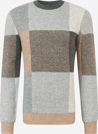 BURTON MENSWEAR LONDON Pullover i beige / grå / lysegrå, Produktvisning