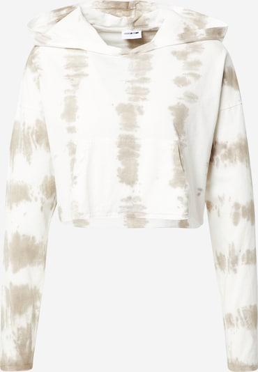 Noisy may Sweatshirt 'SELMA' in dunkelbeige / weiß, Produktansicht