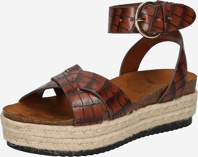 Sandale cu baretă 'MAUVE' ONLY pe maro ruginiu, Vizualizare produs
