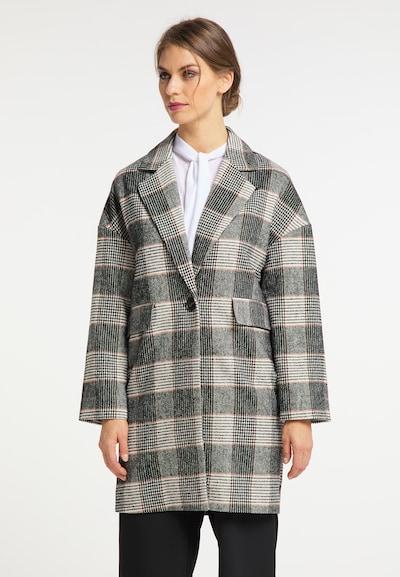 usha BLACK LABEL Mantel in braun / schwarz / weiß, Modelansicht