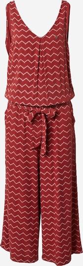 Ragwear Jumpsuit 'SUKY CHEVRON' in rot / weiß, Produktansicht