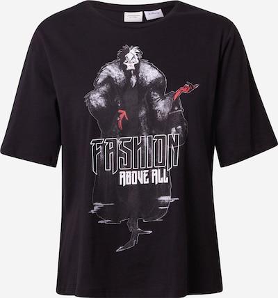 JDY T-shirt 'DARLINGTON' en gris / rouge / noir / blanc, Vue avec produit
