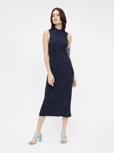 Rochie tricotat 'OBJAMIRA' OBJECT pe albastru închis, Vizualizare model