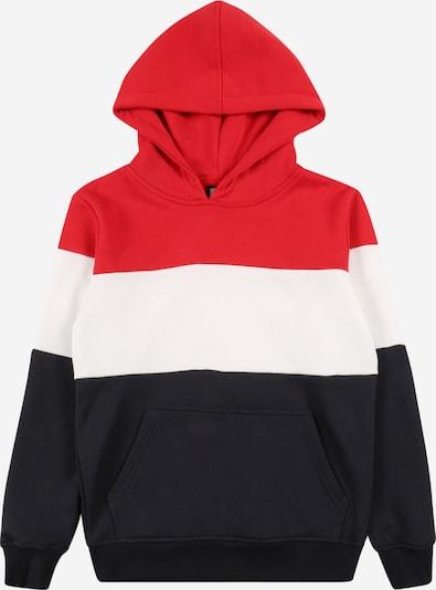 Urban Classics Kids Sweatshirt in feuerrot / schwarz / weiß, Produktansicht