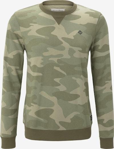 TOM TAILOR DENIM Sweatshirt in khaki / grasgrün / hellgrün, Produktansicht