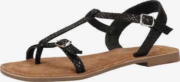 LAZAMANI Sandalen in Schwarz