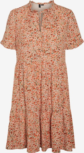 VERO MODA Kleid 'Mille' in grün / koralle / rosa / offwhite, Produktansicht