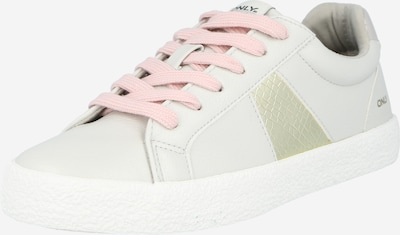 ONLY Sneaker 'SUNNY' in gold / hellgrau, Produktansicht