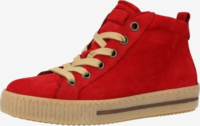 GABOR Sneaker in beige / feuerrot, Produktansicht