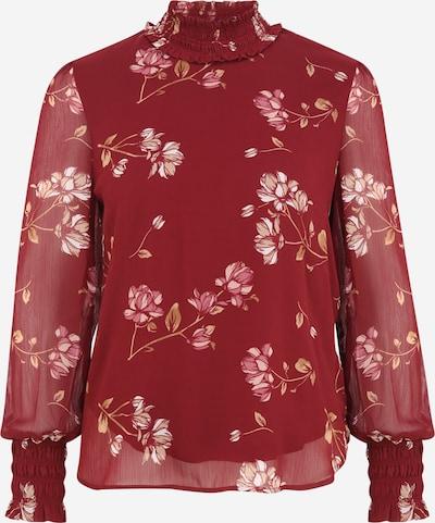 Vero Moda Petite Bluse 'SMILLA' in beige / pink / rosa / weinrot, Produktansicht