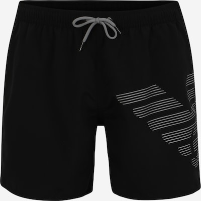 Emporio Armani Shorts de bain en noir / blanc, Vue avec produit