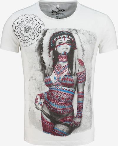Key Largo T-Shirt 'SQUAW' in weiß, Produktansicht