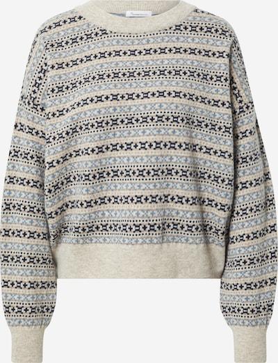 KnowledgeCotton Apparel Pullover 'MYRTHE' in beige / blau / hellbraun, Produktansicht