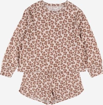Pijamale GAP pe maro / roz / roz pal, Vizualizare produs
